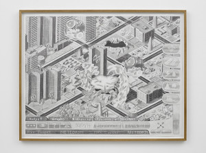 Our Apocalypse (Meteors!!!), 2013 - 2014, pencil on paper, 114 x 148cm